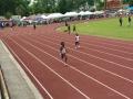 Zoe running the 200