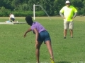 Jaiden throwing the turbo javelin