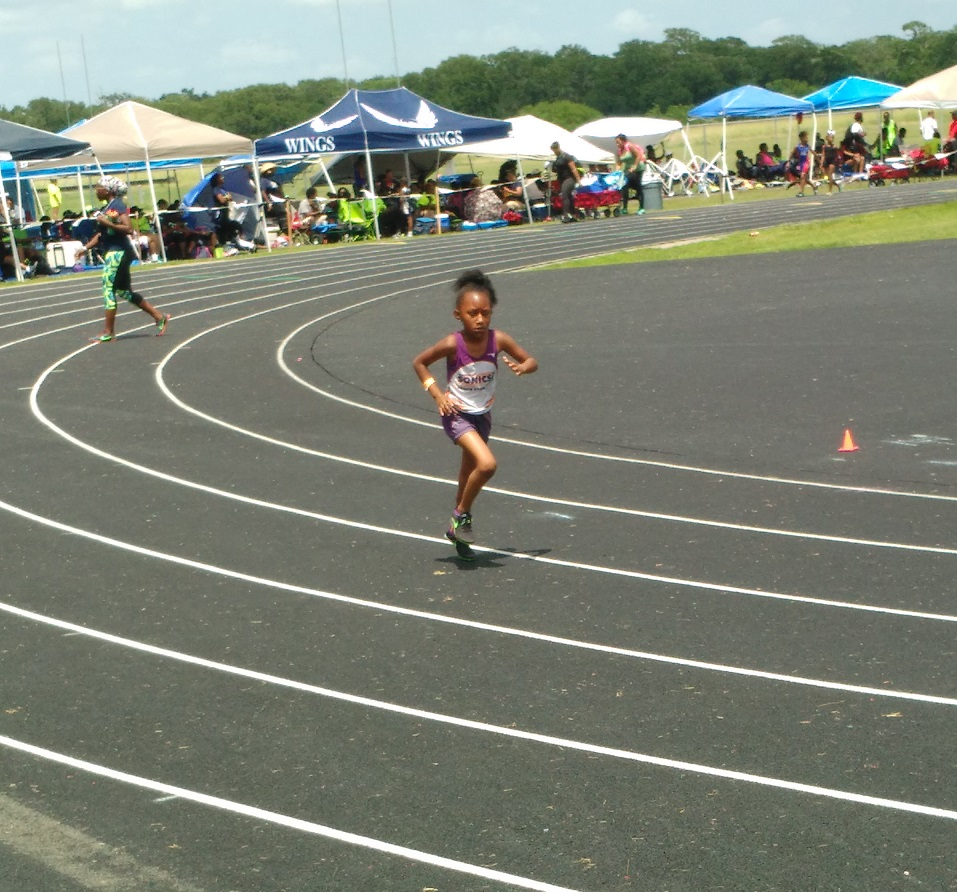 Taylor running the 400