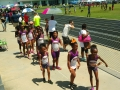 Girls relay teams heading out to the track