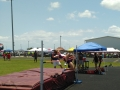 Haley competing in the high jump