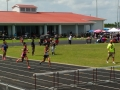 Mikayla running the 400 hurdles