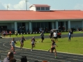 Raven and Cesley running the 200