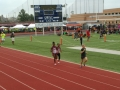 Jaiden and Kennedy running the 800