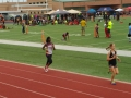 Tia Mitchell running the 800