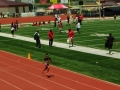 Connor running the 400