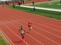 Leyla running the 100