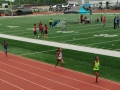 Yasmine running the 800