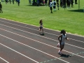 Angela running the 200