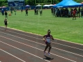 Jaiden running the 200