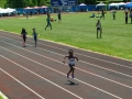 Kylah running the 200