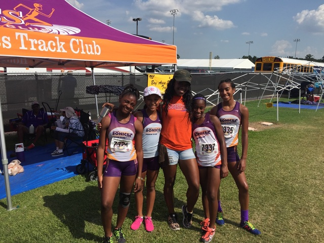 11-12 Girls 4x400 relay team