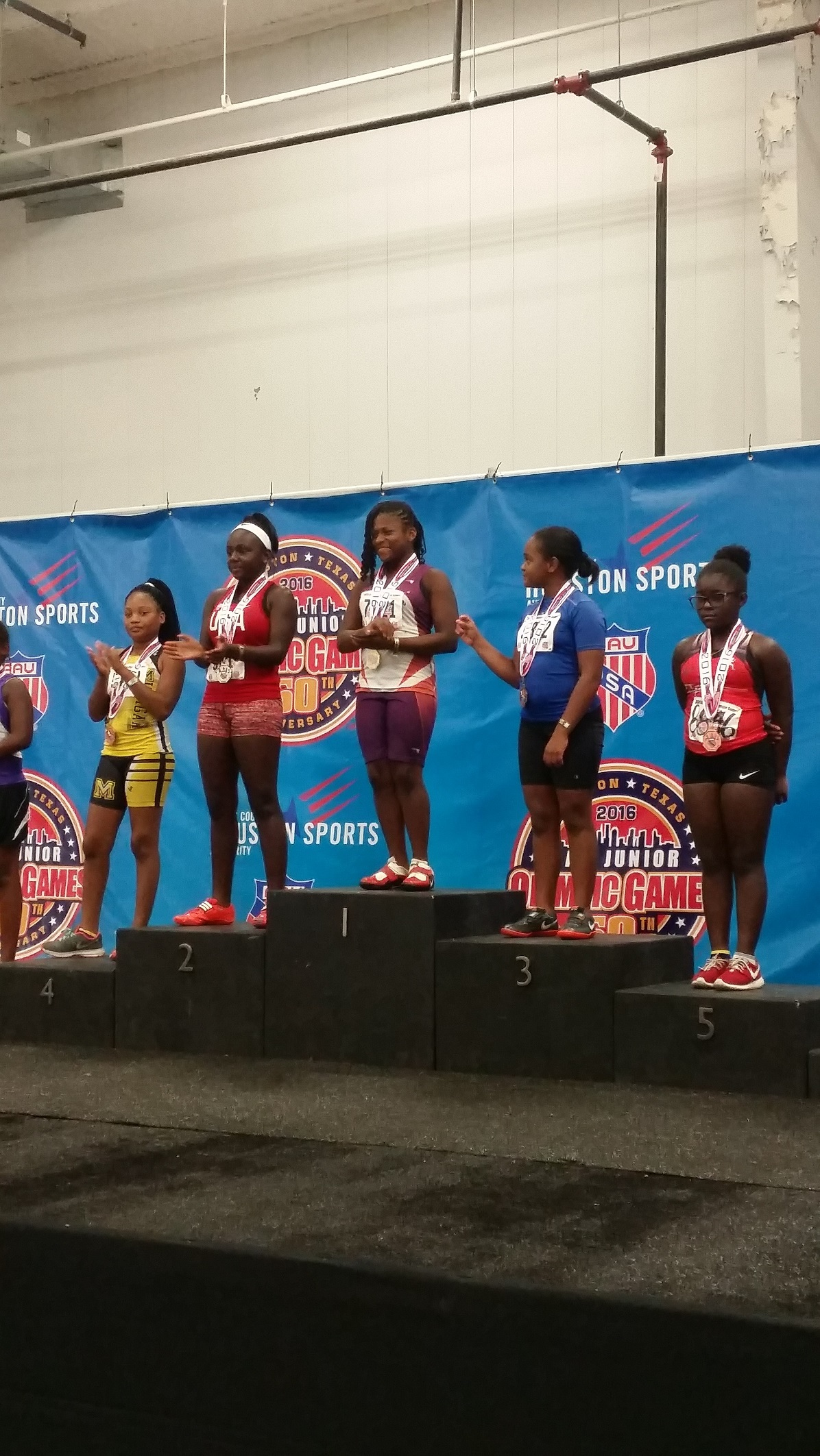 Octavia on the podium for shot put