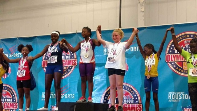 Octavia on the podium for the turbo javelin