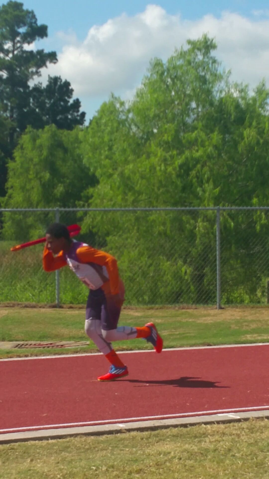Kenneth throwing the turbo javelin