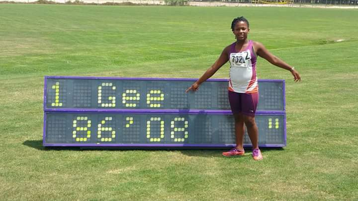 Octavia's national record in turbo javelin