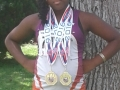 Octavia with her first two golds