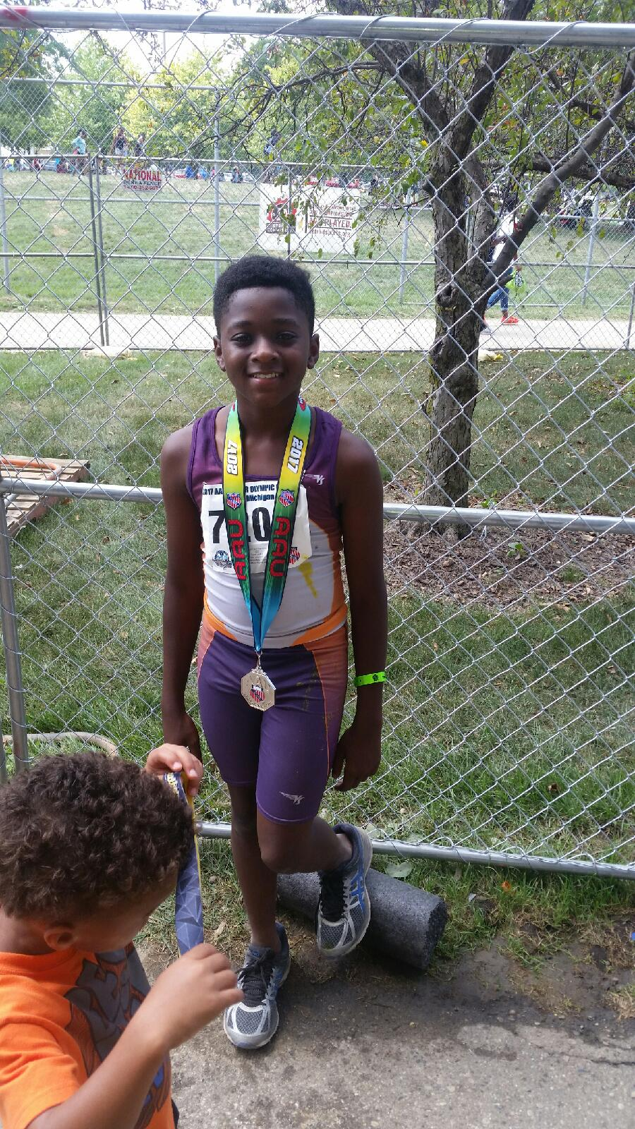 Damario 2nd place in turbo javelin