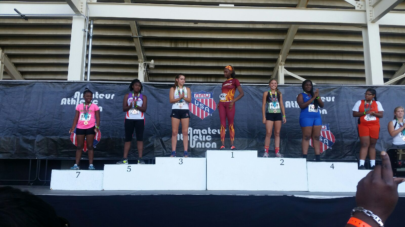 Jaiden makes the podium for the javelin