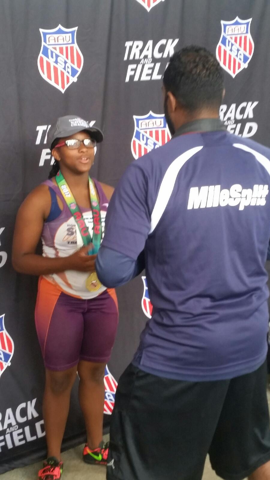 Octavia wins another shot put title