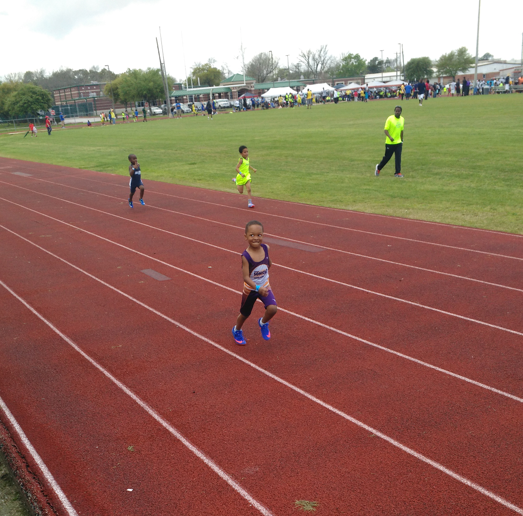Cameron running the 400