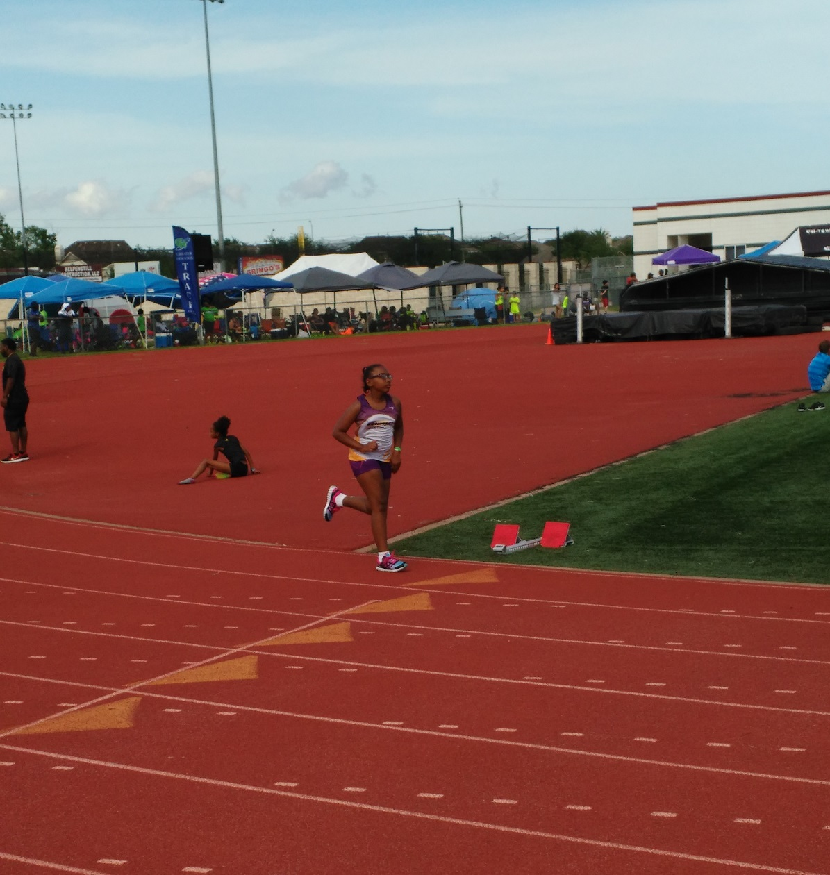 Mya running the 200