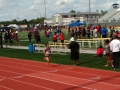Anyssa anchoring the sprint medley