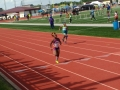 Dakota running the sprint medley