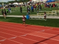 Kayla anchoring the sprint medley