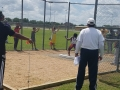 Siyon throwing the shot put