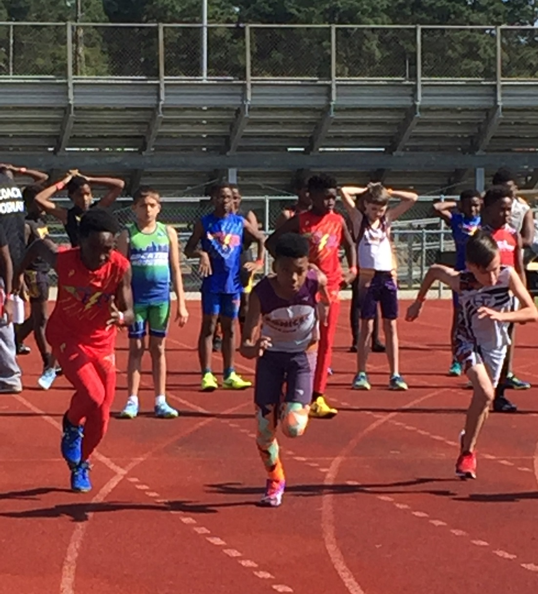 Jonathan and Caleb in the 100