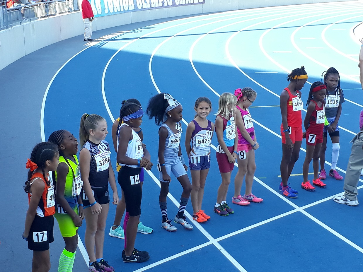 Angela lined up for the 1500