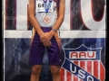 Andy with his 4x800 medal