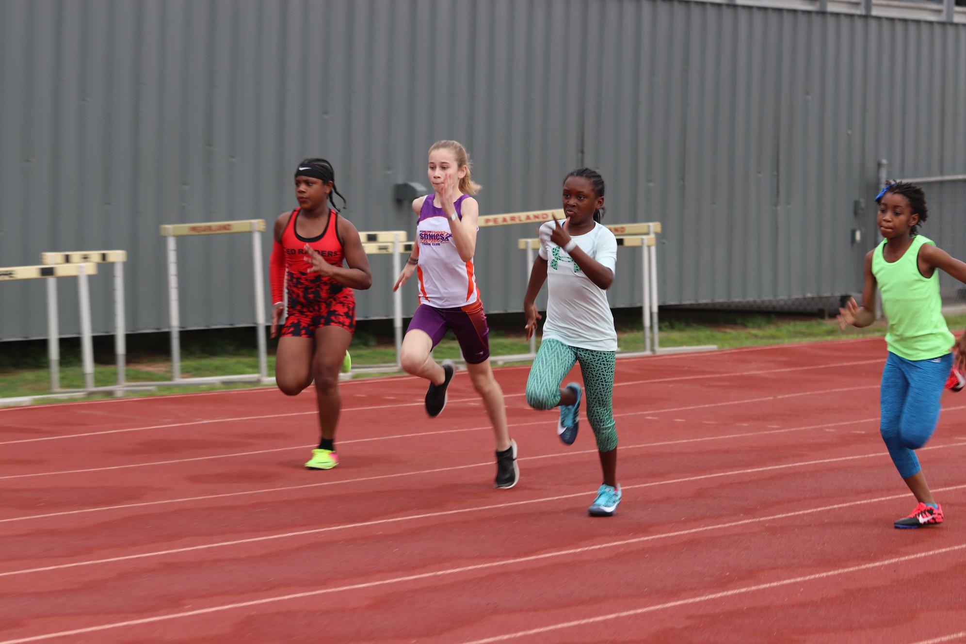 Jill running the 100