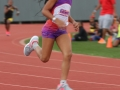 Cassondra running the 400