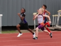 Morgan running the 100