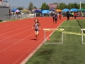 Angela finishing the 800
