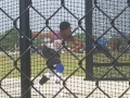 Kenneth throwing the discus
