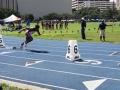 Luke running the 400