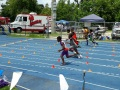 Ziel taking off in the 100