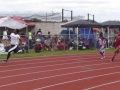 Aniyah running the 200