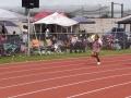 Cassondra running the 200