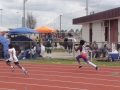 Hassan running the 200