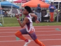 Jonathan running the 200