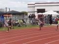 Margan running the 200