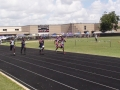 Anthony and Isaiah running the 100