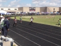 Calvin running the 200