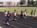 Jacardo and Kenneth running the 100
