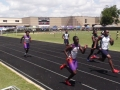 Jashaun and DeAnthony running the 100
