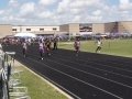 Jonathan, Kealon, and Mason running the 100
